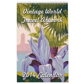 Vintage World Travel Artwork 2014 Calendar