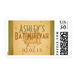 Vintage World Travel Bat Mitzvah Postage