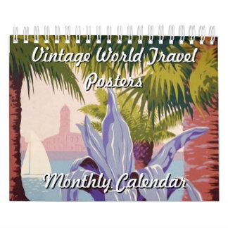 Vintage World Travel Posters Calendar