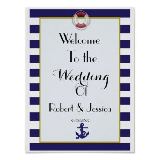 Vintage world travel themed wedding welcome poster