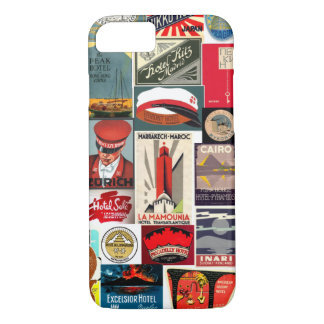 Vintage World Traveler Luggage Tags for iPhone 7 c iPhone 7 Case
