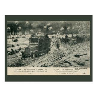 Vintage World War 1 In Belgium Ypres drawing Postcard