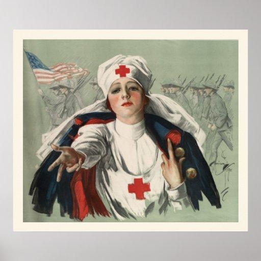Vintage World War 1 Nurse Poster