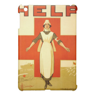 Vintage World War 1 Red Cross Nurse Poster - Help iPad Mini Covers