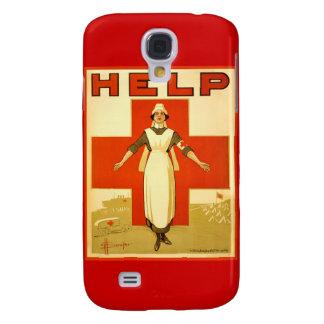 Vintage World War 1 Red Cross Nurse Poster - Help Samsung Galaxy S4 Cover