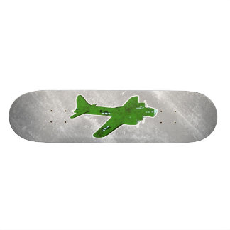 Vintage World War 2 Bomber Military Aircraft Skateboard Deck