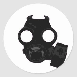 Vintage world war 2 Gasmask design Classic Round Sticker