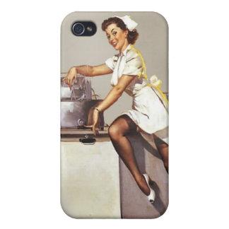 Vintage World War 2 Pinup Medical Nurse iPhone 4 Cover