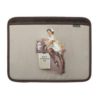 Vintage World War 2 PinUp Nurse Custom Name MacBook Sleeve