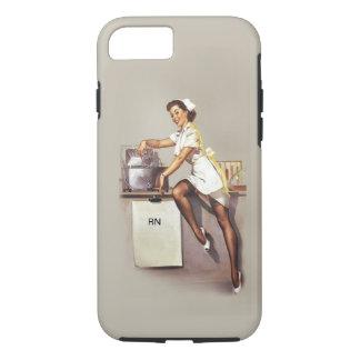 Vintage World War 2 PinUp Nurse iPhone 7 Case