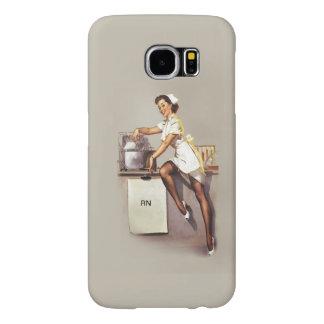 Vintage World War 2 PinUp Nurse Retro RN Samsung Galaxy S6 Case