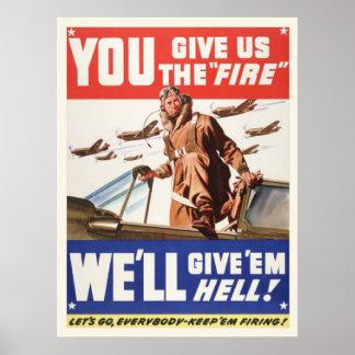 Vintage World war 2 Poster