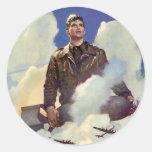 Vintage World War 2 Round Sticker
