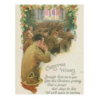 Vintage World War Christmas Postcard