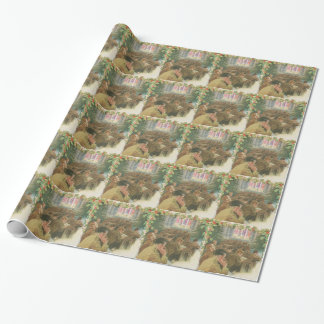 Vintage World War Christmas Wrapping Paper