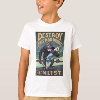 Vintage World War I German Gorilla Propoganda T-Shirt