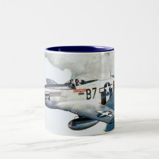 Vintage World War II Air Force P-51D Mustang Two-Tone Coffee Mug