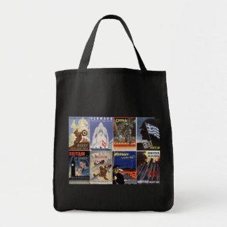 Vintage World War II Allied Effort War Posters Tote Bag