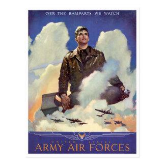 Vintage World War II Army Air Forces Postcard
