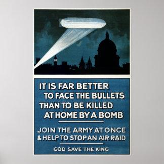 Vintage World War II Army Recruitment Poster