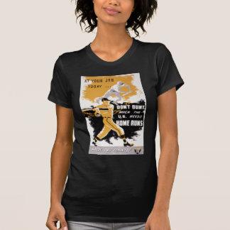 Vintage World War II Don't Bunt Baseball T-Shirt