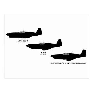Vintage World War II North American P-51 Mustang Postcard