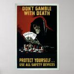 Vintage World War II Safety Equipment Poster