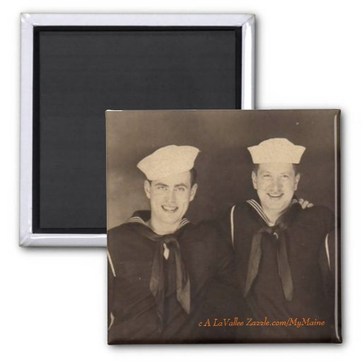 Vintage World War II Sailors Fridge Magnet
