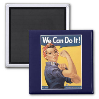 Vintage World War II We Can do It! Fridge Magnet