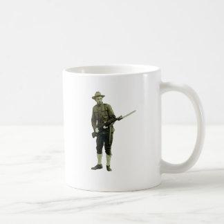 Vintage World War One Doughboy Soldier Coffee Mug