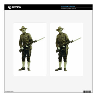 Vintage World War One Doughboy Soldier Decal For Kindle Fire