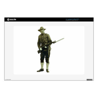 Vintage World War One Doughboy Soldier Decals For Laptops