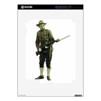Vintage World War One Doughboy Soldier Skin For iPad 2