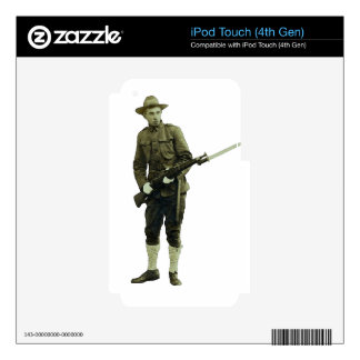 Vintage World War One Doughboy Soldier Skins For iPod Touch 4G