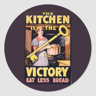 Vintage World War One Victory Poster Classic Round Sticker