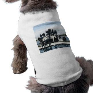 Vintage World War Two Submarine Crew Doggie Tshirt