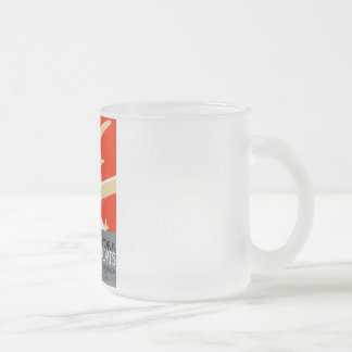 Vintage Worlds Fair Chicago 1933 Poster Frosted Glass Coffee Mug