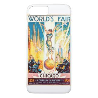 Vintage Worlds Fair Chicago 1933 Poster iPhone 8 Plus/7 Plus Case