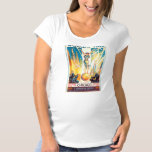 Vintage Worlds Fair Chicago 1933 Poster Maternity T-Shirt