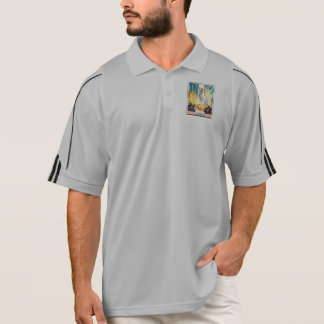 Vintage Worlds Fair Chicago 1933 Poster Polo Shirt
