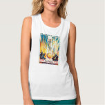 Vintage Worlds Fair Chicago 1933 Poster Tank Top