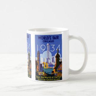 Vintage Worlds Fair Chicago 1934 Coffee Mug