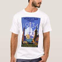Vintage Worlds Fair Chicago 1934 T Shirt