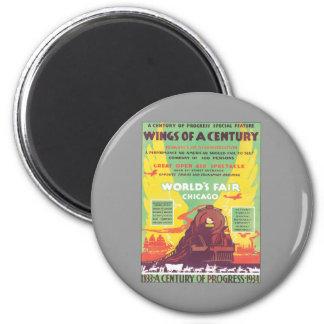Vintage World's Fair Chicago 2 Inch Round Magnet