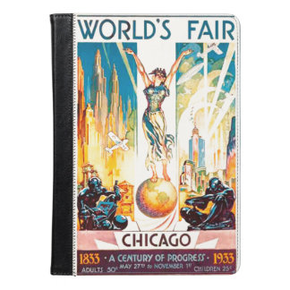 Vintage Worlds Fair Chicago Poster 1933 iPad Air Case