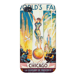 Vintage Worlds Fair Chicago Poster 1933 iPhone 4/4S Cover