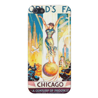 Vintage Worlds Fair Chicago Poster 1933 iPhone 5/5S Cases