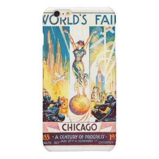 Vintage Worlds Fair Chicago Poster 1933 Matte iPhone 6 Plus Case