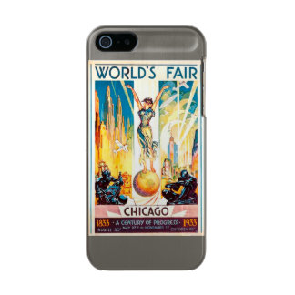 Vintage Worlds Fair Chicago Poster 1933 Metallic iPhone SE/5/5s Case