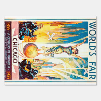 Vintage Worlds Fair Chicago Poster 1933 Sign